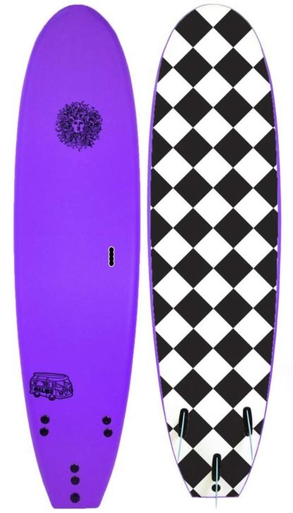 Kona Malibu Surfboard in Purple