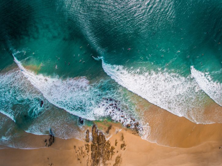Aerial View of Surf